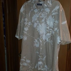 Nautica Hawaiian shirt....light colors...PERFECT